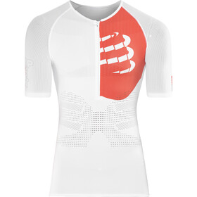 Compressport Triathlon Postural Aero Shortsleeve Top Men, white